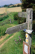 AT5BW2 Public footpath direction pointer sign Butley Suffolk England