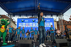Jan Plestenjak during the Day for the medals: Reception of Slovenian sport heroes on 30.9.2019 on Kongresni square, Ljubljana, Slovenia. Photo by Urban Meglič / Sportida