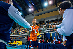 Nimir Abdelaziz of Netherlands before the CEV Eurovolley 2021 Qualifiers between Croatia and Netherlands at Topsporthall Omnisport on May 16, 2021 in Apeldoorn, Netherlands