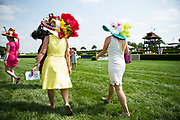 April 29, 2017, 22nd annual Queen's Cup Steeplechase. Hat contest patrons