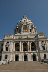 Minnesota, Twin Cities, Minneapolis-Saint Paul: The State Capitol Building in St. Paul, a large dome made of white marble..Photo mnqual315-75049..Photo copyright Lee Foster, www.fostertravel.com, 510-549-2202, lee@fostertravel.com.