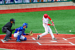 NORMAL, IL - May 01: Nick Zouras during a college baseball game between the ISU Redbirds and the Indiana State Sycamores on May 01 2019 at Duffy Bass Field in Normal, IL. (Photo by Alan Look)