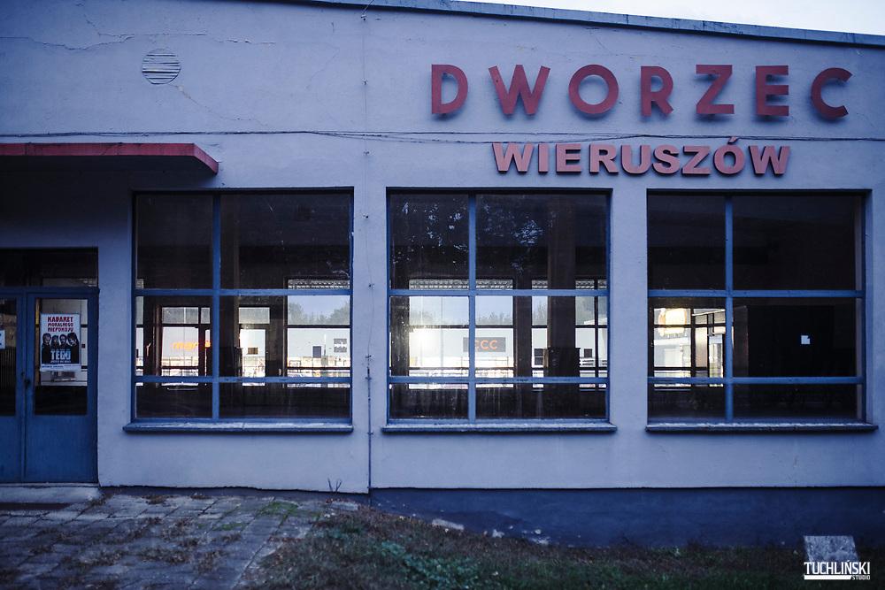 Wieruszów, Polska. 09.10.2019<br /> Dworzec PKS w Wieruszowie.<br /> Fot. Adam Tuchlinski dla Newsweek Polska