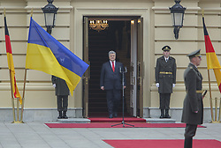 November 1, 2018 - Kiev, Ukraine - President of Ukraine Petro Poroshenko (C) is seen before the official meeting ceremony as Federal Chancellor of Germany Angela Merkel (not pictured) arrives to hold negotiations at Mariyinsky Palace in Kyiv, Ukraine, Nov. 1, 2018. German Christian Democratic Party, CDU, chairwoman and Chancellor Angela Merkel announces during the a news conference on Oct. 29, 2018 she will step down as head of her conservative party after 18 years in December and won't seek a fifth term as German chancellor. (Credit Image: © Sergii Kharchenko/NurPhoto via ZUMA Press)