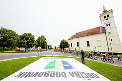 Cyclists at Dobrovnik during 1st Stage of 25th Tour de Slovenie 2018 cycling race between Lendava and Murska Sobota (159 km), on June 13, 2018 in  Slovenia. Photo by Vid Ponikvar / Sportida