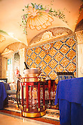 A section of the splendid dining room in the former Gianni Versace mansion, now a hotel,  the Villa Casa Casuarina, on Miami Beach's Ocean Drive