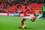 Charlton Athletic forward Nicky Ajose (25) during the EFL Sky Bet League 1 match between Charlton Athletic and AFC Wimbledon at The Valley, London, England on 15 December 2018.