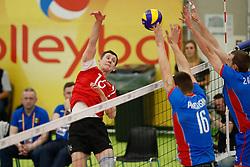 20170525 NED: 2018 FIVB Volleyball World Championship qualification, Koog aan de Zaan<br />Dimitrii Bahov (16) of Republic of Moldova <br />©2017-FotoHoogendoorn.nl / Pim Waslander