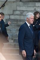 Bill Clinton Obsèques de Jacques Chirac Lundi 30 Septembre 2019 église Saint Sulpice Paris