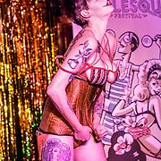 London,England,UK. 22th May 2017. Sakura Cyanide *London, UK preforms at the London Burlesque Festival 2017 - Tattoo Revue at Moth Club, Hackney,London,UK. by See Li