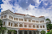 Entrance to the Raffles Hotel, Singapore, Republic of Singapore