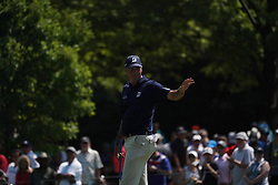 August 10, 2018 - St. Louis, Missouri, United States - Matt Kuchar waves to the crowd after putting the 9th green during the second round of the 100th PGA Championship at Bellerive Country Club. (Credit Image: © Debby Wong via ZUMA Wire)