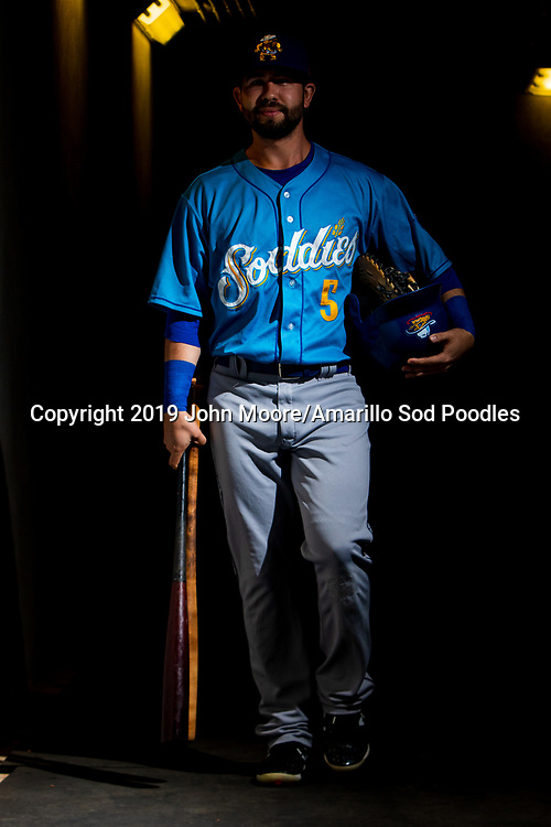 Amarillo Sod Poodles infielder Peter Van Gansen (5) before the game against the Tulsa Drillers during the Texas League Championship on Saturday, Sept. 14, 2019, at OneOK Field in Tulsa, Oklahoma. [Photo by John Moore/Amarillo Sod Poodles]