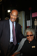 29 October 2010- Harlem, New York- l to r: Rev. Dr. Forbes and Maya Angelou at The Acquisition of the Maya Angelou Collection of Personal Papers and Materials Documenting 40 years of the Writer's Literary Career held at the Schomburg Center on October 29, 2010 in Harlem, USA. Photo Credit: Terrence Jennings