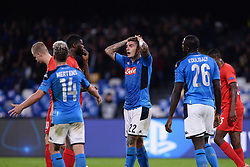 November 5, 2019, Napoli, Napoli, Italia: Foto Cafaro/LaPresse.5 Novembre 2019 Napoli, Italia.sport.calcio.SSC Napoli vs FC Salzburg - Uefa Champions League stagione 2019/20 Gruppo E, giornata 4 - stadio San Paolo.Nella foto: Giovanni Di Lorenzo (SSC Napoli) deluso...Photo Cafaro/LaPresse.November 5, 2019 Naples, Italy.sport.soccer.SSC Napoli vs FC Salzburg - Uefa Champions League 2019/20 season Group E matchday 4 - San Paolo stadium.In the pic: Giovanni Di Lorenzo (SSC Napoli) shows his disappointment. (Credit Image: © Cafaro/Lapresse via ZUMA Press)