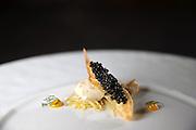 The ossetra (marrow/artichoke/chardonnay) at EL Ideas restaurant on Wednesday, April 3, 2013. (Brian Cassella/Chicago Tribune)  B582828687Z.1 <br /> ....OUTSIDE TRIBUNE CO.- NO MAGS,  NO SALES, NO INTERNET, NO TV, CHICAGO OUT, NO DIGITAL MANIPULATION...