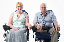 Portrait of disabled couple,