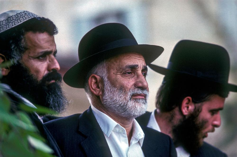 Jews at the wailing wall in Jerusalem, 1989