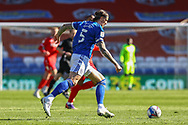 Cardiff City's Aden Flint (5) in action during the EFL Sky Bet Championship match between Cardiff City and Nottingham Forest at the Cardiff City Stadium, Cardiff, Wales on 2 April 2021.