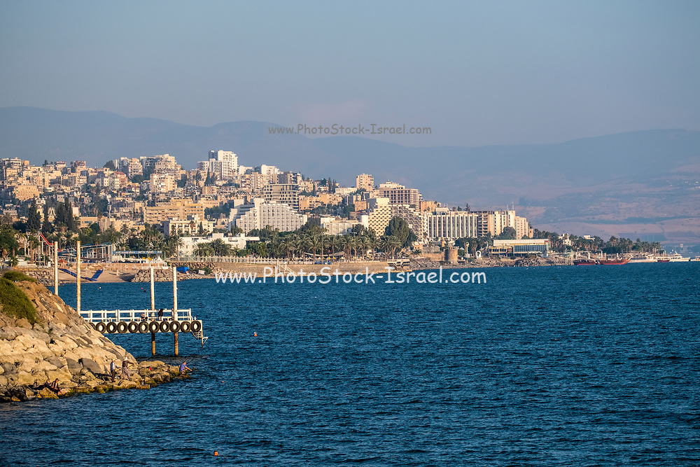 Tiberias, Israel the view of the city on the shore of the Sea Of Galilee