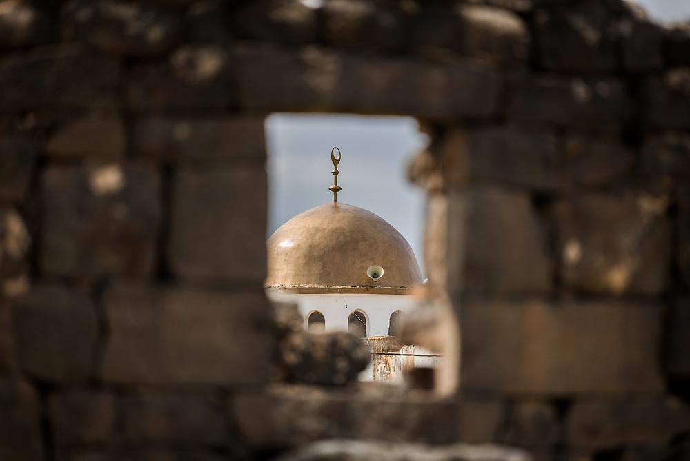 20 February 2020, Umm el Jimal, Jordan: Mosque in Umm el Jimal.