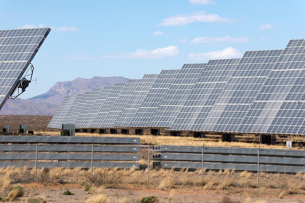 Solar farm near Hatch, New Mexico.