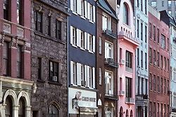 Pastel & Stone Row Houses and The Coach House Restaurant in Greenwich Village, New York City, February 25, 1976. As, Townhouses.
