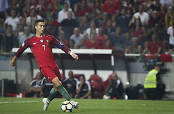 October 10, 2017 - Lisbon, Portugal - Portugal's forward Cristiano Ronaldo controls the ball during the FIFA 2018 World Cup Qualifier match between Portugal and Switzerland at the Luz Stadium on October 10, 2017 in Lisbon, Portugal. (Credit Image: © Carlos Costa/NurPhoto via ZUMA Press)