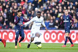 February 17, 2018 - Paris, France - 10 NEYMAR JR (psg) - 08 Jean Eudes AHOLOU  (Credit Image: © Panoramic via ZUMA Press)