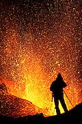 Photographer captures the erupting volcano in Fimmvörðuháls, south Iceland in April 2010