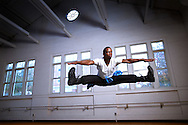 Emmanuel Malette practices in the Mary Channing Coleman Building on the UNCG campus, Thursday, October 22, 2015, in Greensboro, N.C. <br /> <br /> JERRY WOLFORD and SCOTT MUTHERSBAUGH / Perfecta Visuals<br /> <br /> When Emmanuel was a teenager, he went through lots of hard family situations. He needed an escape. That's when he turned to dance. Emmanuel describes his love with dance as being a safe haven.<br /> <br /> Growing up, he didn't have the money to pay for dance lessons so he would watch YouTube videos to try to pick things up from there. He would also dance with his cousin each summer.<br /> <br /> Emmanuel is now a senior at UNCG studying dance concentrating on performance and choreography. He loves all styles of dance but is most experienced in hip-hop and contemporary styles. Emmanuel also teaches dance classes at Artistic Motion.<br />