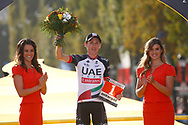 Podium, Hotess, Miss, Daniel Martin (IRL - UAE Team Emirates) during the 105th Tour de France 2018, Stage 21, Houilles - Paris Champs-Elysees (115 km) on July 29th, 2018 - Photo Luca Bettini / BettiniPhoto / ProSportsImages / DPPI