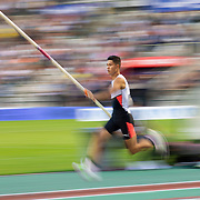 BRUSSELS, BELGIUM:  September 3:  Ernest John Obiena of the Philippines in action during the pole vault competition at the Wanda Diamond League 2021 Memorial Van Damme Athletics competition at King Baudouin Stadium on September 3, 2021 in  Brussels, Belgium. (Photo by Tim Clayton/Corbis via Getty Images)