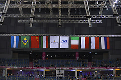 December 16, 2017 - Krakow, Malopolska, Poland - Flags of the countries Volleyball Men's Club World Championship 2017 are seen  the during the semi finals of Volleyball Men's Club World Championship 2017 in Tauron Arena. (Credit Image: © Omar Marques/SOPA via ZUMA Wire)