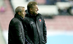 Charlton Athletic manager Karl Robinson and Lee Bowyer
