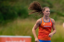 Emma Oosterwegel in action during the Press presentation of the olympic team Athletics on July 8, 2021 in Papendal Arnhem