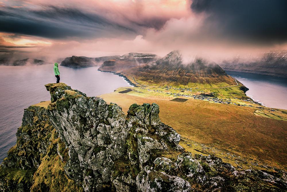 Sunset at the Island of Vioy, Faroe Islands