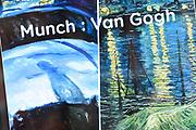 Koningin Sonja van Noorwegen en prinses Beatrix hebben woensdag in Amsterdam een expositie geopend rond de Noorse kunstenaar Evard Munch (1863-1944). In het Van Gogh Museum in Amsterdam zijn tientallen schilderijen en tekeningen van Munch te zien, waaronder het beroemde werk 'De Schreeuw'. <br /> <br /> Queen Sonja of Norway and Princess Beatrix in Amsterdam on Wednesday opened an exhibition of the Norwegian artist Evard Munch (1863-1944). In to see the Van Gogh Museum in Amsterdam are dozens of paintings and drawings by Munch, including the famous painting The Scream.<br /> <br /> Op de foto / On the photo: