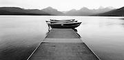 Boats on Dock Lake McDonald Glacier National Park