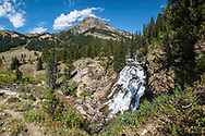 Granite Creek Falls high in the Gros Ventre Mountains of Northwest Wyoming.