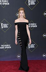 Katherine McNamara at the 2019 E! People's Choice Awards held at the Barker Hangar in Santa Monica, USA on November 10, 2019.