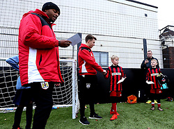 Mark Little and Luke Freeman of Bristol City hand out certificates - Mandatory by-line: Robbie Stephenson/JMP - 23/11/2016 - FOOTBALL - South Bristol Sports Centre - Bristol, England - BCCT EFL Kids Cup