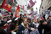 Demonstrators outside the Great Connaught Rooms where the Conservative Party Spring Conference was taking place and protesters gathered to protest against David Cameron's links to offshore finances on April 9th, 2016 in London, United Kingdom. Thousands of protesters gathered calling for the Prime Minister to resign and to protest over his recently revealed tax dealings in the Panama Papers'.
