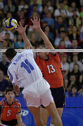 23-09-2000 AUS: Olympic Games Volleybal Nederland - Egypte, Sydney<br /> Nederland wint met 3-1 van Egypte / Martin van der Horst