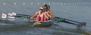 Plovdiv BULGARIA. 2017 FISA. Rowing World U23 Championships. <br /> GBR BW4X, Bow. THORNTON, Anna, EDWARDS, Kyra, BUDGETT, Saska and GLOVER, Lucy.<br /> Wednesday. PM,  Heats 17:12:38  Wednesday  19.07.17   <br /> <br /> [Mandatory Credit. Peter SPURRIER/Intersport Images].