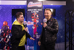 David Guetta (right) during day one of Capital's Jingle Bell Ball with Coca-Cola at London's O2 Arena.