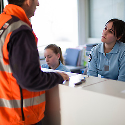 Gendarmes adjoint volontaires en charge de l'accueil physique et téléphonique du public à la Brigade Territoriale de Seynod. <br /> Février 2019 / Annecy (74) / FRANCE<br /> Voir le reportage complet (90 photos) https://sandrachenugodefroy.photoshelter.com/gallery/2019-02-Gendarmerie-departementale-Annecy-Complet/G0000z70yEIPiTjg/C0000yuz5WpdBLSQ
