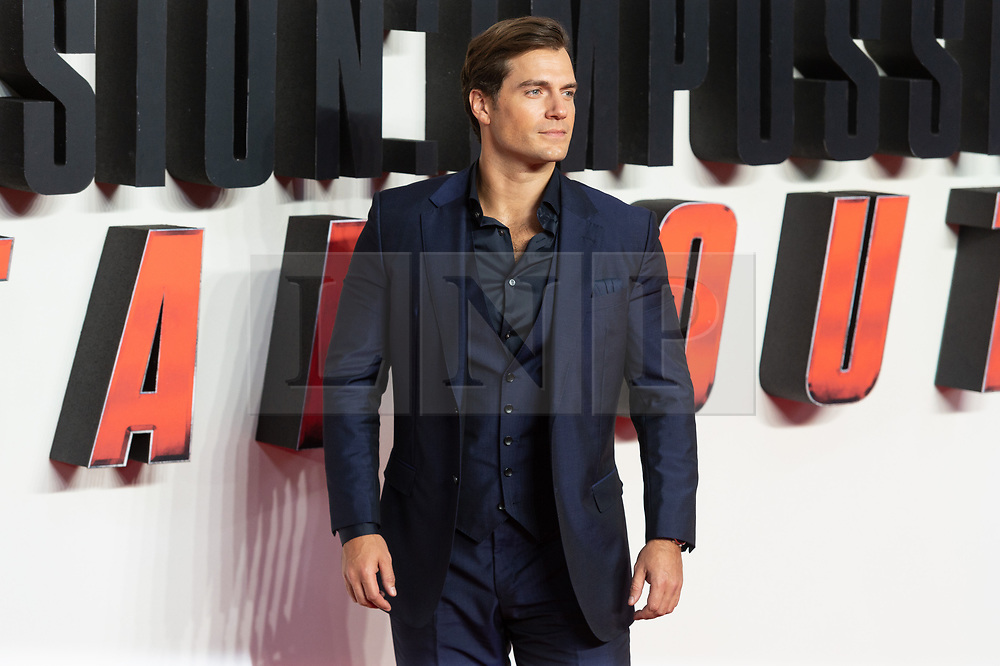 © Licensed to London News Pictures. 13/07/2018. London, UK.  Henry Cavill attends the 'Mission Impossible: Fallout' UK Film Premiere. Photo credit: Ray Tang/LNP