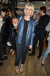 EMILY WELLER at a quiz night hosted by Zoe Jordan to celebrate the launch of her men's ZJKNITLAB collection held at The Larrick Pub, 32 Crawford Place, London on 20th April 2016.