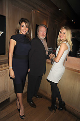 Left to right, GIANNINA FACIO, RIDLEY SCOTT and SIENNA MILLER at a party to celebrate the launch of Hollywood Domino - a brand new board game, held at Mosimann's 11b West Halkin Street, London on 7th November 2008.  The evening was in aid of Charlize Theron's Africa Outreach Project.